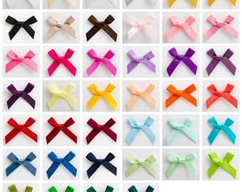 100 Pre-Tied Satin Bows (7mm Ribbon)