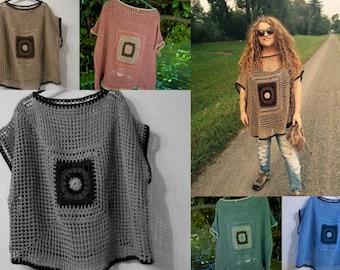 Easy pattern . Oversize-Sweater