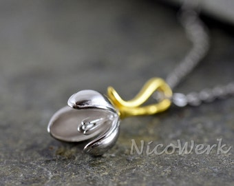 Silver necklace with pendant necklace ladies jewelry 925 Silver Chain gift 149