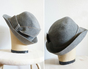 1950s/1960s grey wool hat