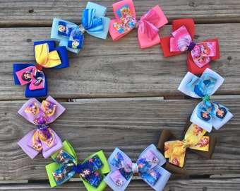 Disney Princess Bows / Set of 9 / Princess Bows / Disney Bows