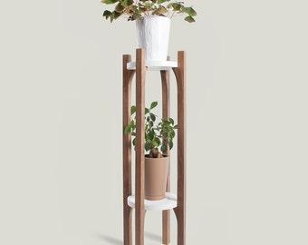 Walnut Double Plant Stand