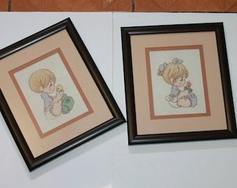 decorative painting, cross stitch wall decoration, wedding gift
