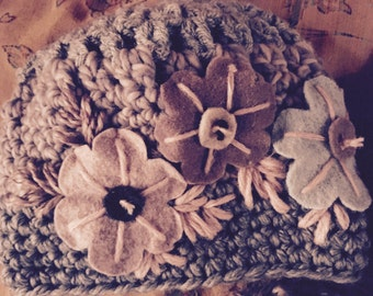 Embroidered wool Cap