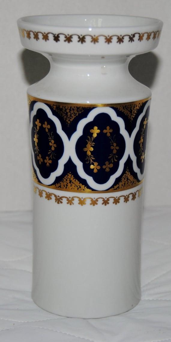 vintage vase echt kobalt handmalerei made in gdr. Black Bedroom Furniture Sets. Home Design Ideas