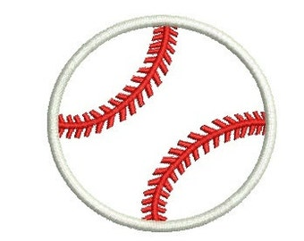 BASEBALL Applique Embroidery Design Softball Applique Embroidery Design Fill Design Machine Embroidery Instant Download ER116E
