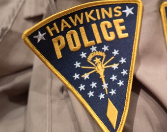 Stranger Things Hopper Hawkins Police Patch Badge for Cosplay / Costume / Gift