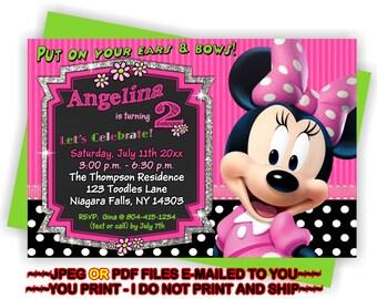 YOU PRINT - Minnie Mouse Birthday Invite, Minnie Birthday Invite, Minnie Invitation, Minnie Party Invite, Minnie Mouse - BIRINV4