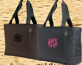 Embroidered Monogram Laptop Tote, Laptop Bag, Laptop Carrier