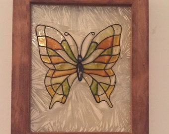 Glass Butterfly Wall Decor