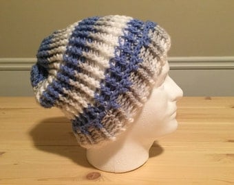 Brimmed Colors of Winter Slouch Beanie