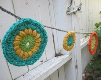 Circle Parade, Crochet Garland