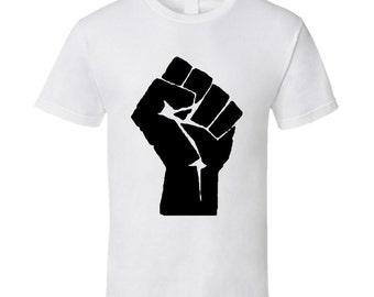 Vintage Political T-shirt Black Power Fist 1960s