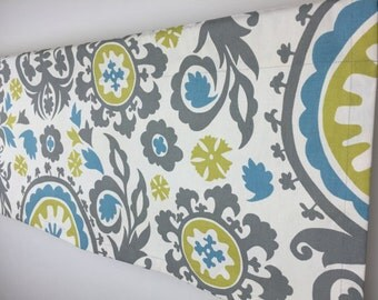 SALE! -  50x16 Valance - Suzani Valance - Modern Valance - Window Valance - Window Treatment - Designer Valance - Curtains - Window Decor