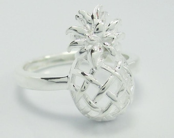 Sterling Silver (925) Pineapple Ring
