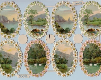 OVAL SCENES - Die cuts, Authentic L&B,  #20