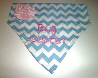 Gender Reveal, Dog Bandana, BIG Sister, Pregnancy Announcement, New Baby, Baby shower gift, Dog lover gift, Photo Shoot, New Baby Picture