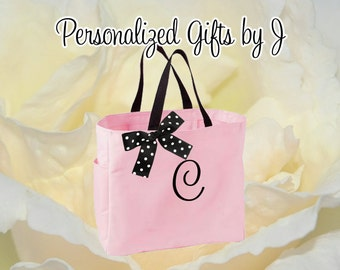 1 Personalized Bridesmaid Gift Tote Bags Personalized Tote, Bridesmaids Gift, Monogrammed Tote