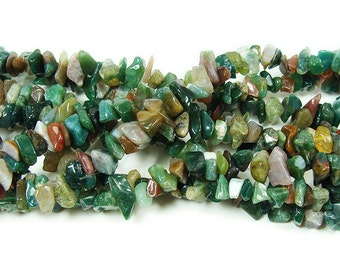 Indian Agate Chips Gemstone Beads