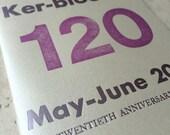Kerbloom letterpress zine anniversary issue