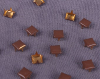 Square Brown Metal Stud- 5mm - 100 Pieces (MS5BNS-100)