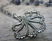 Muse: Calliope necklace ... sterling silver / iolite / blue sapphire
