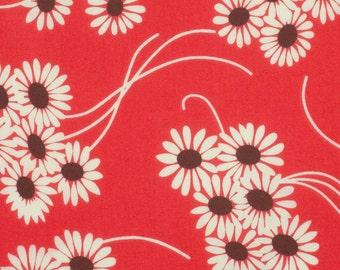 Denyse Schmidt Katie Jump Rope Geranium Daisy Bouquet cotton quilt fabric - fat quarter