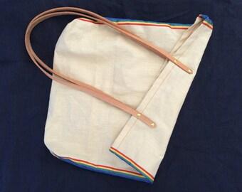 Japanese linen beach bag