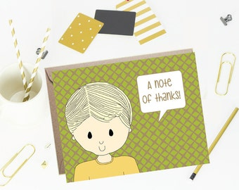 Thank You Note Cards for Kids- Trelis- Set of 10