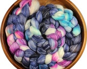 All-nighter - hand-dyed Merino wool / bamboo / silk (4 oz.) combed top roving
