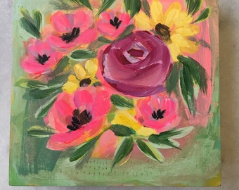 Soft Sunday 6x6 painting