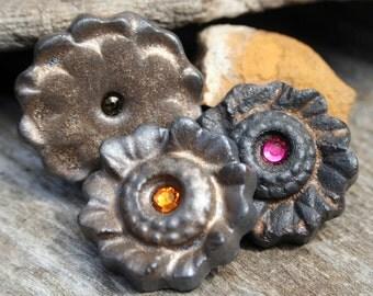 Handmade Stoneware Cabochon Assorted Set of 3
