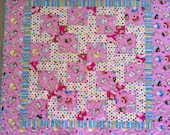 Baby Nines Beginner Quilt pattern, charm square friendly, Easy and Fast, Quilting instruction, Sewing Scrappy Patchwork, small quilt simple