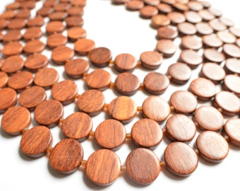 The Charlotte- Bayong Wood Multi Strand Statement Necklace