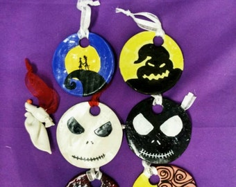 Jack, Sally, and friends Ornaments