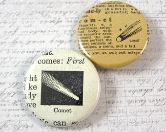 Comet Pinback Button Set