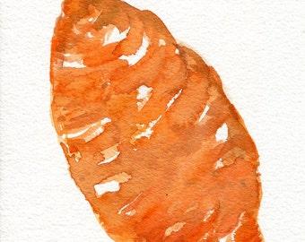 Sweet Potatoes watercolor painting original, kitchen decor, culinary watercolor painting of sweet potatoes, 5 x 7, vegetable art