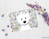 Westie Terrier Impressions iPad Painting Signed Art PRINT