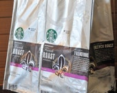 Recycled Tote Bag Starbucks Coffee Bean Bag - French Roast #122