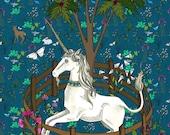 Unicorn Tapestry Art Print: the Unicorn in Captivity
