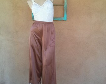 Vintage 1950s Pajama Pants Vanity Fair Copper Hostess Palazzo Sz Med Up to W32 2016230