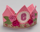 Waldorf Felt Birthday Crown - Pink Flowers