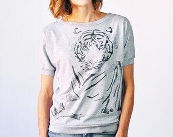 Tiger T-Shirt, Grey