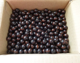 US Shipper - Round or Rondelle Wood Beads - 10 MM - Coffee or Brown Color - 2 to 300 - Wooden