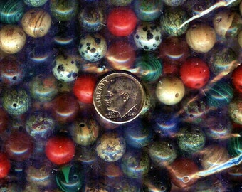 "10mm Bead Soup Multi Gemstone Round Beads 16"" 40pcs"