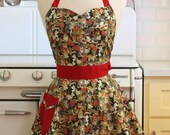 Retro Sweetheart Apron Christmas Cats BELLA