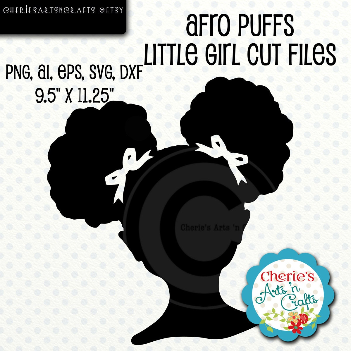 Afro Puffs Little Girl Silhouette Little Girl Silhouette