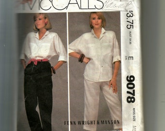 McCall's Misses' Shirt, Pants and Tie Belt Pattern 9078