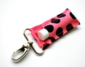 Pink with Black Dots Chapstick holder