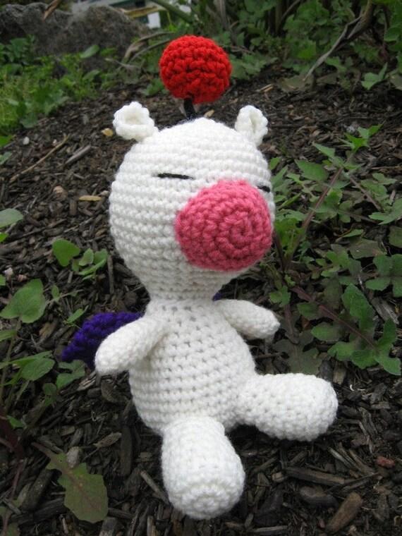 Moogle Amigurumi Plush Crochet Doll